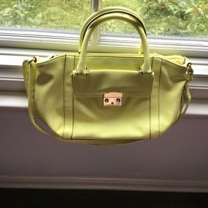 Vintage Neon yellow Merona purse